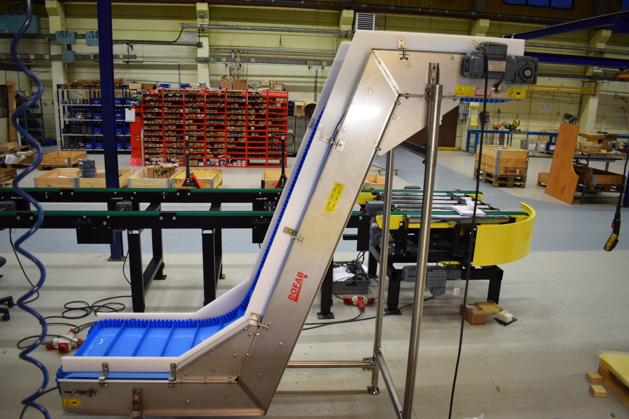 Rostfria bandtransportörer med löstagbara sidokanter - Bofab Conveyor AB