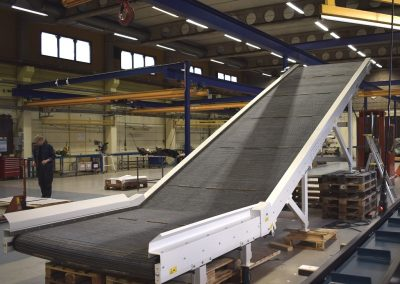Belt Conveyor with steel wired belt for handling steel scraps