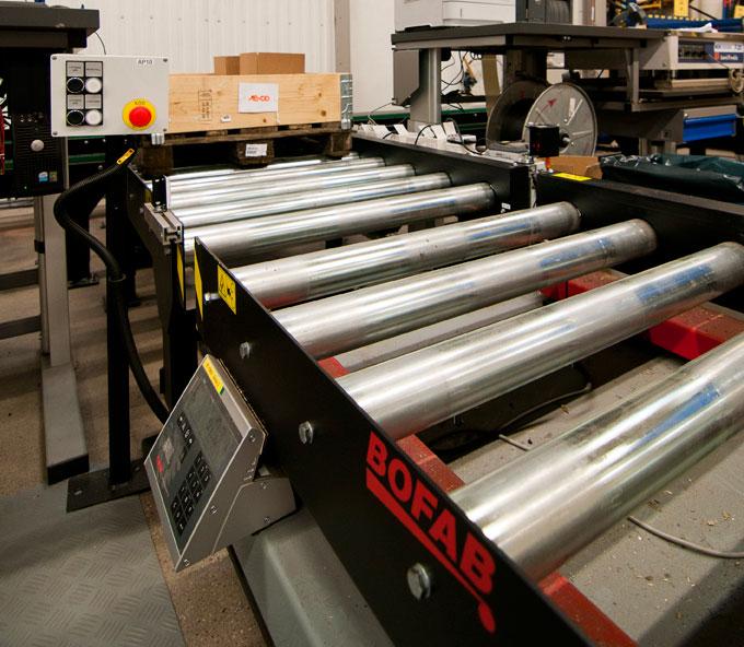 Rullbanor byggda av Bofab Conveyor AB åt Toyota Material Handling i Mjölby