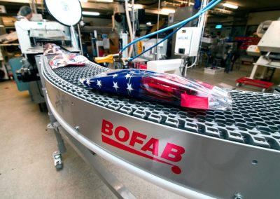 Belt Conveyor for transporting candy constructed by Bfoab Conveyor for Cloetta Ab in Ljungsbro