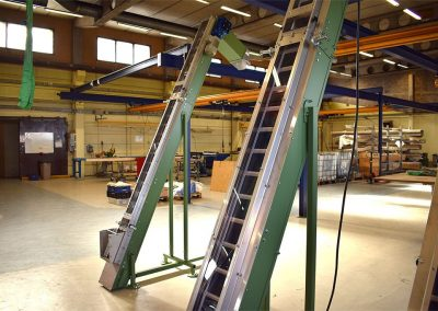 Belt Conveyor model PS with saftey cover constructed by Bofab Conveyor AB